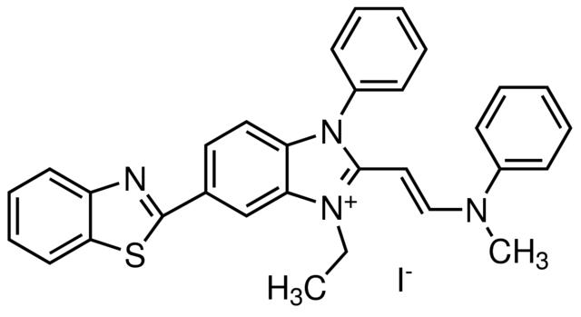 6-(2-苯并噻唑基)-1-乙基-2-[2-(甲基苯基氨基)乙烯基]-3-苯基-1H-苯并咪唑鎓碘化物