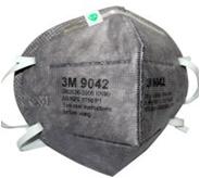 9042 KN90有机蒸气异味及防颗粒物活性炭防尘口罩(头带式/标准号)