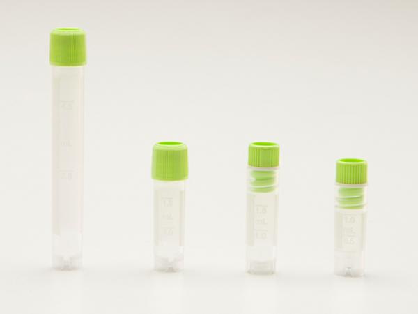 冻存管,1.2ml,PP,可立底,内旋盖,带刻度,灭菌,无DNA酶、RNA酶,无热原