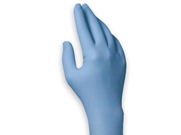 丁腈无粉手套, 蓝色,中号