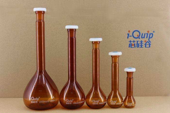 芯硅谷® V2866 棕色容量瓶,带聚乙烯瓶塞,高硼硅料,A级,5ml-2000ml